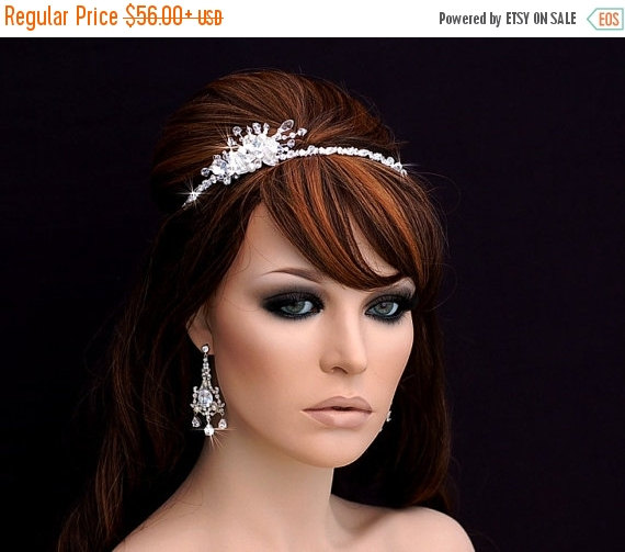 Свадьба - Swarovski Crystal Headband , Bridal Headpiece , Bridal Hair Accessory , Wedding Headband , Crystal Bachelorette Headband