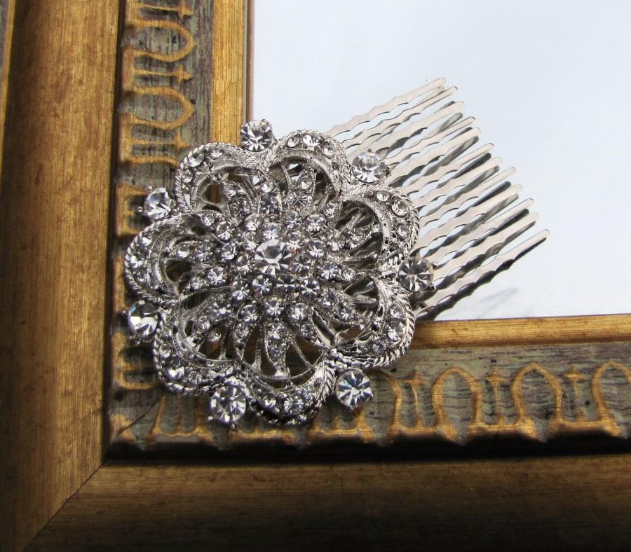 Свадьба - Vintage inspired bridal hair comb, wedding head piece - Sonjia