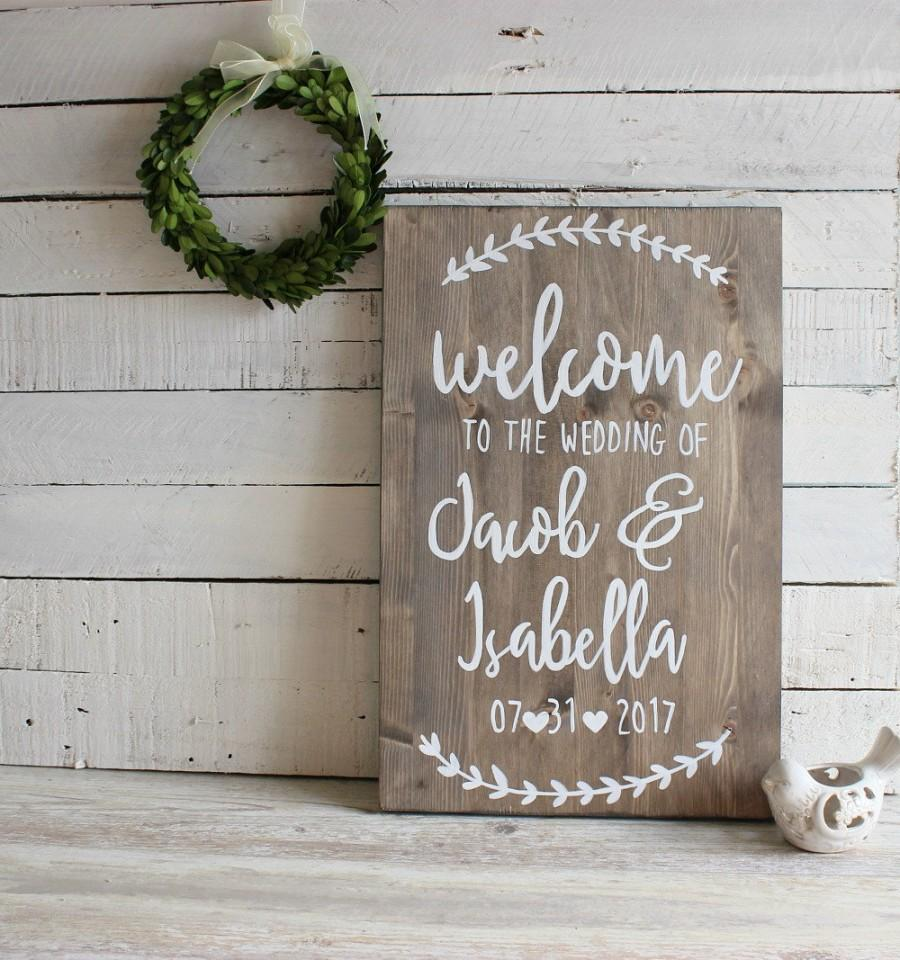 Rustic Wedding Decor Welcome Sign To Our Personalised Signs Wooden
