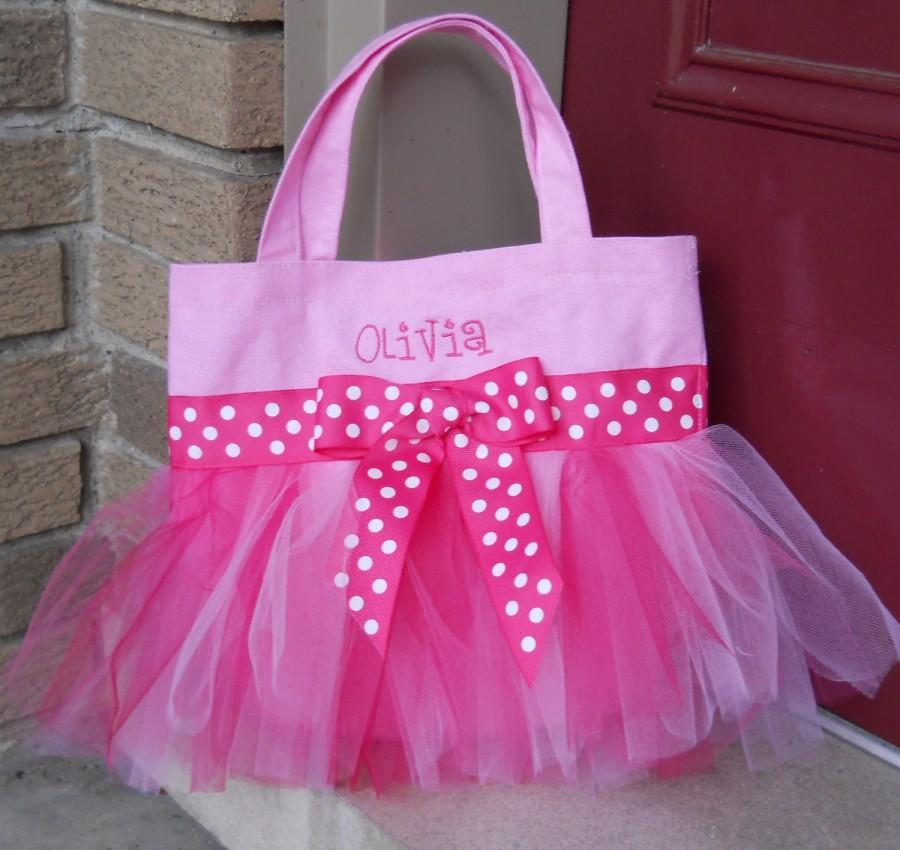 زفاف - Ballet bag, Emboidered Dance Bag, Tutu tote bag, Pink Tote Bag, Personalized Tote bag, Naptime21, MINI Tutu Ballet Bag - MTB24 - D