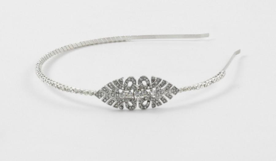 Mariage - Bridal headband-Great Gatsby Headband - Downton Abbey -1920s Art deco style flapper - Great Gatsby headpiece - Wedding Headband -Headdress