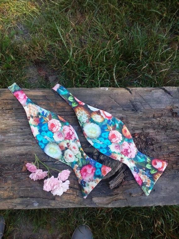 Valentines Floral Self Tie Bow Tie Valentine S Day Gift Valentines