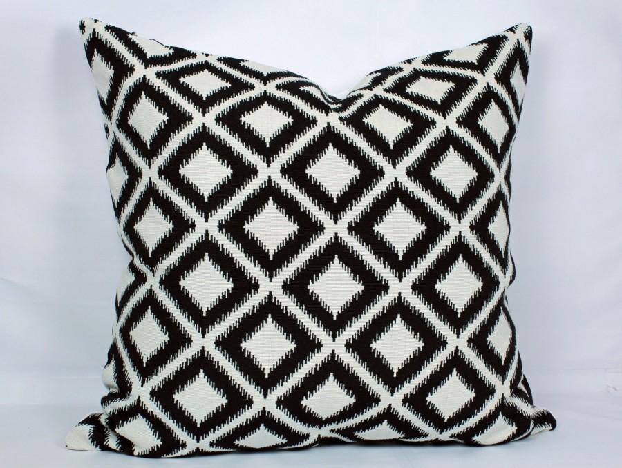 Wedding - Black ikat pillow covers geometric pillow cover ikat throw pillows black and white throw pillow 18x18 decorative pillow 26x26 pillow cover