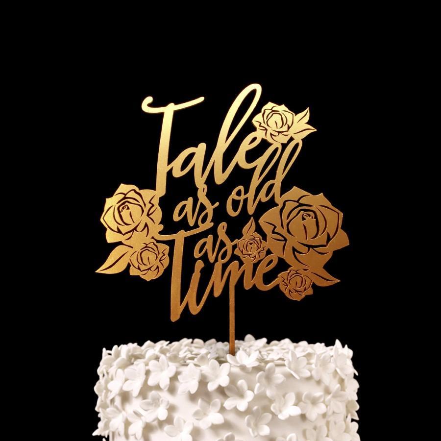 Mariage - Tale as old as Time Disney Wedding Cake Topper -  Keepsake Wedding Cake Toppers
