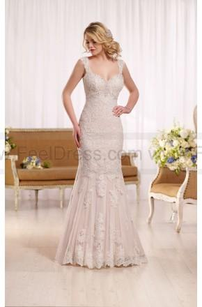 Wedding - Essense of Australia Lace Wedding Dress With Cathedral Train Style D2135