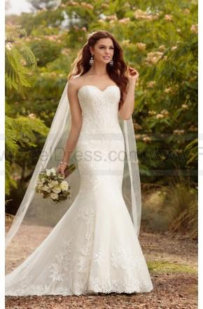 Wedding - Essense of Australia Beaded Curve-Hugging Trumpet Wedding Dress Style D2209