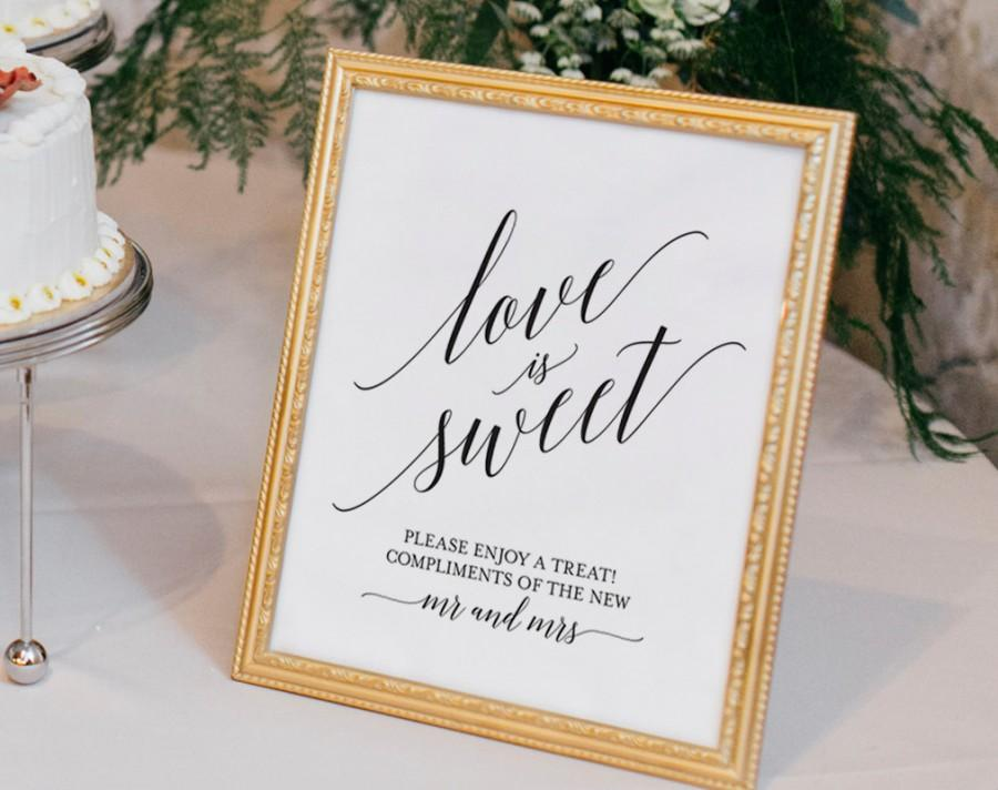 Love Is Sweet Printable Love Is Sweet Sign Dessert Table Sign