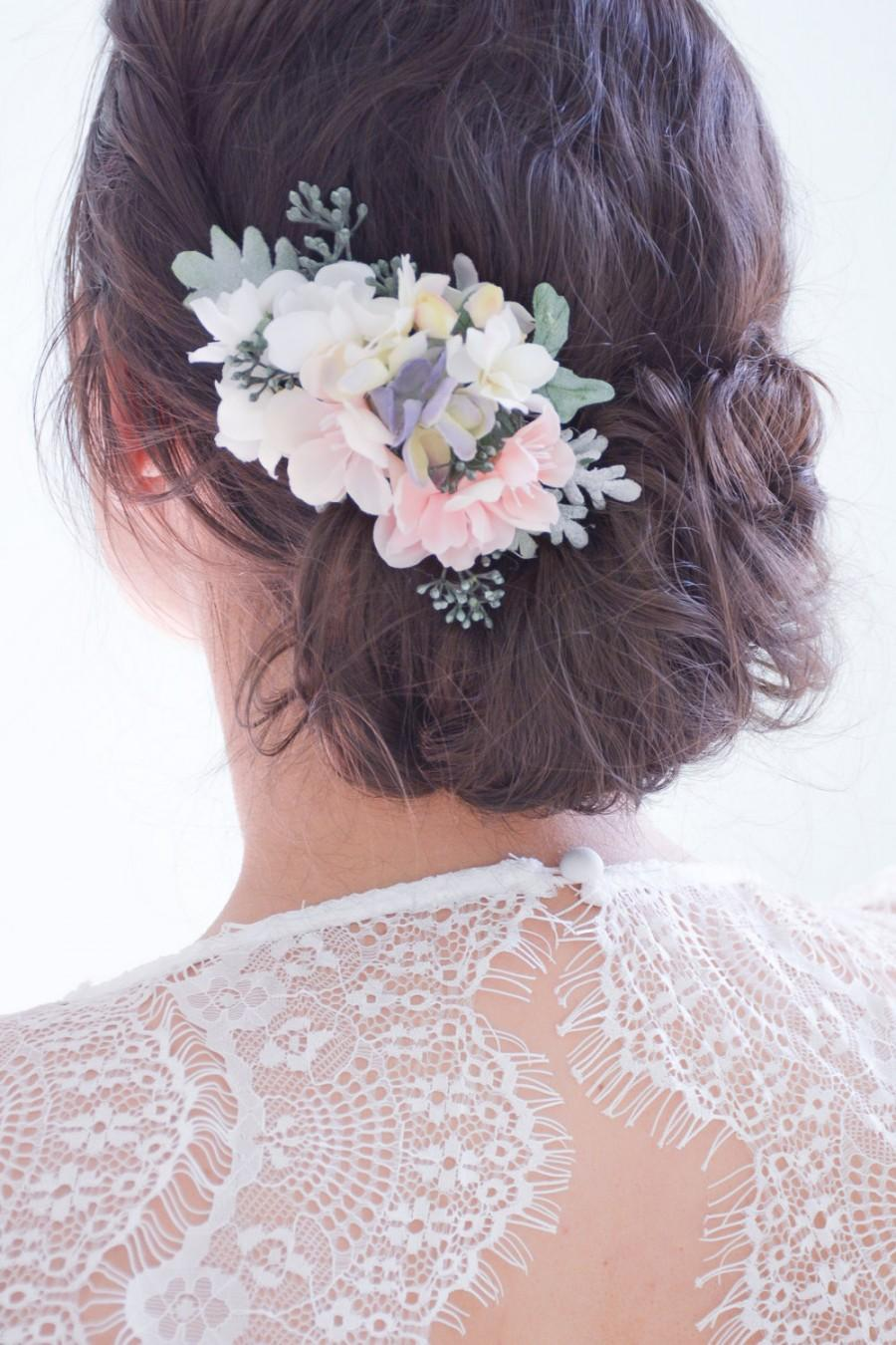 Flower Hair Clip Pink Hair Flowers Floral Hair Pin Pink Hair Clip