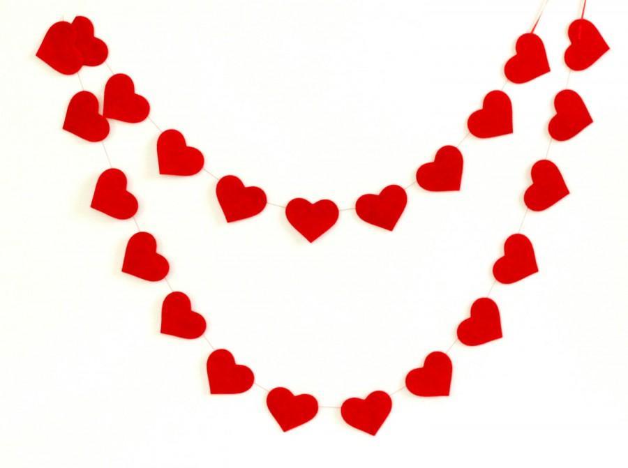 Red Heart Garland Wedding Shower Decoration Valentine S Day Decor