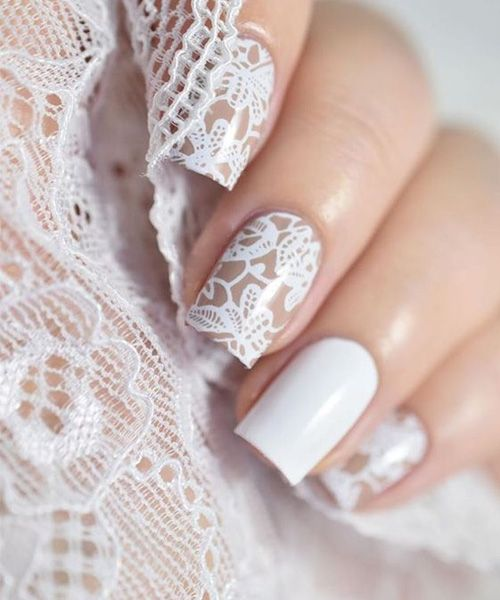Wedding - Lace Nail Art Design