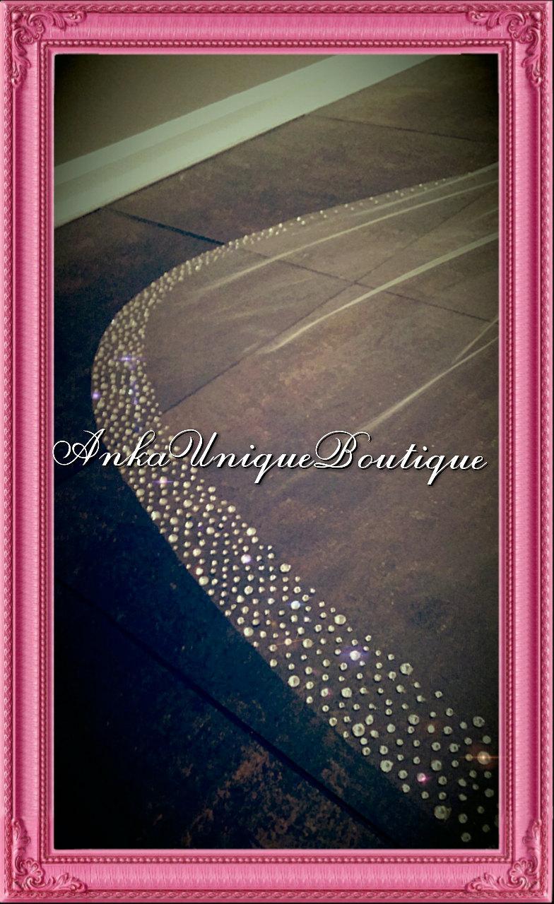 Hochzeit - Stunning sparkle cathedral veil with  crystals