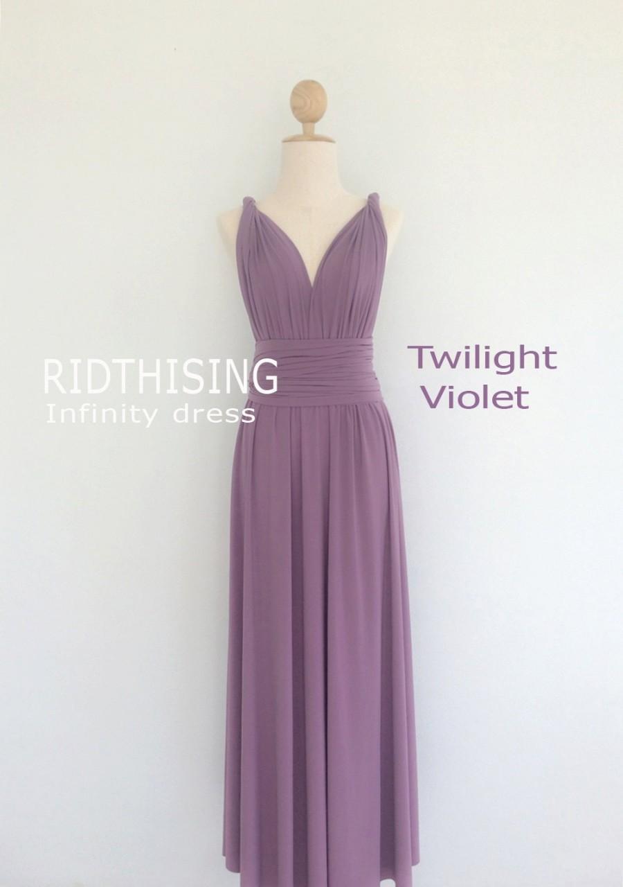Maxi Twilight Violet Bridesmaid Dress Infinity Dress Prom Dress ...