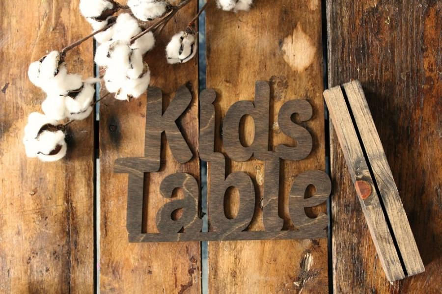 Wedding - Kids Table Sign Rustic Wedding Kids Table Sign Wedding Table Signs @downintheboondocks