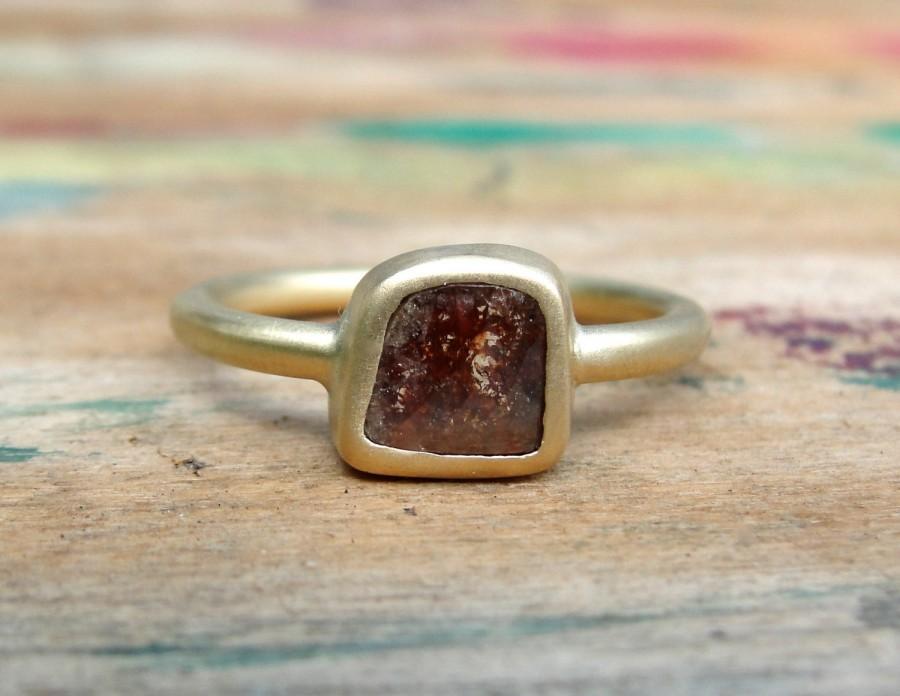 Mariage - Diamond Slice Ring , Diamond Ring , Promise Ring , Diamond Engagement Ring , Solitaire Ring , Rose Cut Diamond Ring , Solitaire Diamond Ring
