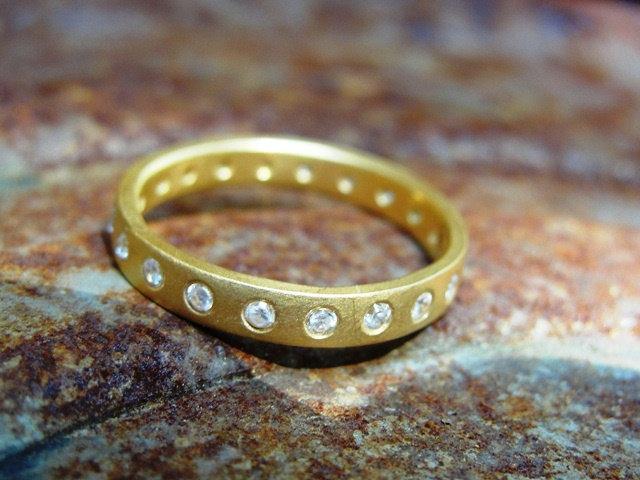 Wedding - Anniversary Ring , Eternity Wedding Band , Full Eternity Band , Diamond Eternity Ring , Promise Ring , Anniversary Gold Ring , Diamonds Ring