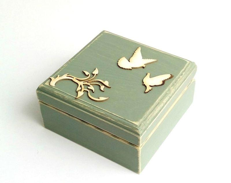Engagement Ring Box For Proposal Will You Marry Me Jewelry Wood Box