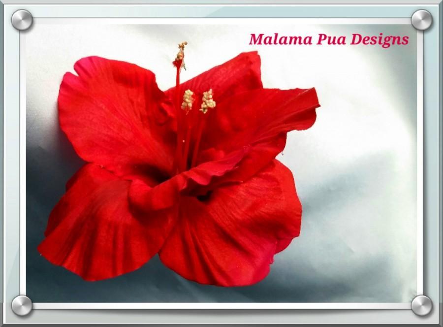 Mariage - HAWAIIAN HIBISCUS HAIR Flower, Tropical, Bridal flowers, Beach Wedding, Fascinator, Flower Headpiece, Wedding Hair Accessory,  Hair Clip