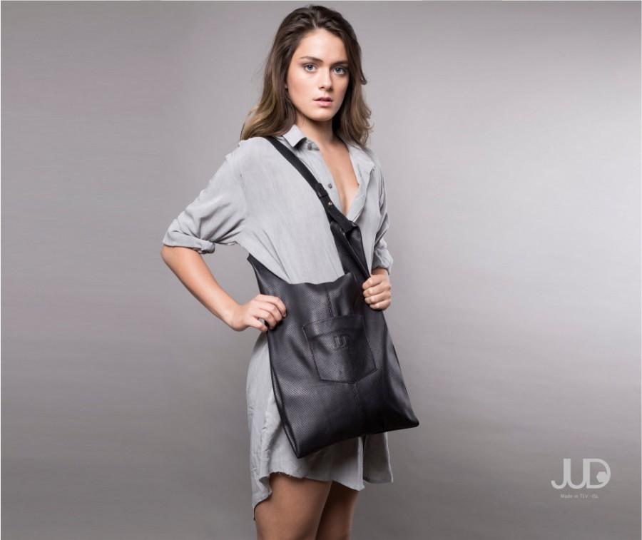 Wedding - Black Leather tote bag - women leather bags SALE soft leather handbag - everyday bag - leather shoulder bag - leather - black leather bag
