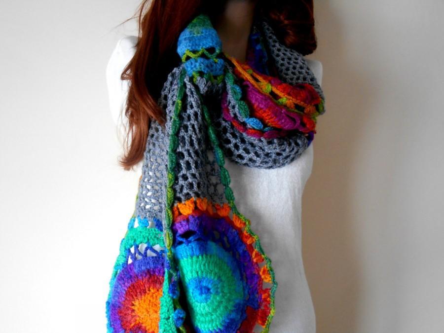 Hand Knitted Scarf Women Knitting Scarf Crochet Women Scarf
