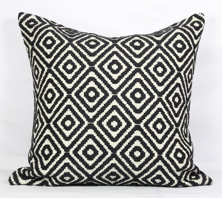 Black Throw Pillows For Bed : Black Throw Pillows 18x18 Boho Pillow Case Bed Black Pillow Covers 24x24 Inch Pillow Cover 20x20 ...