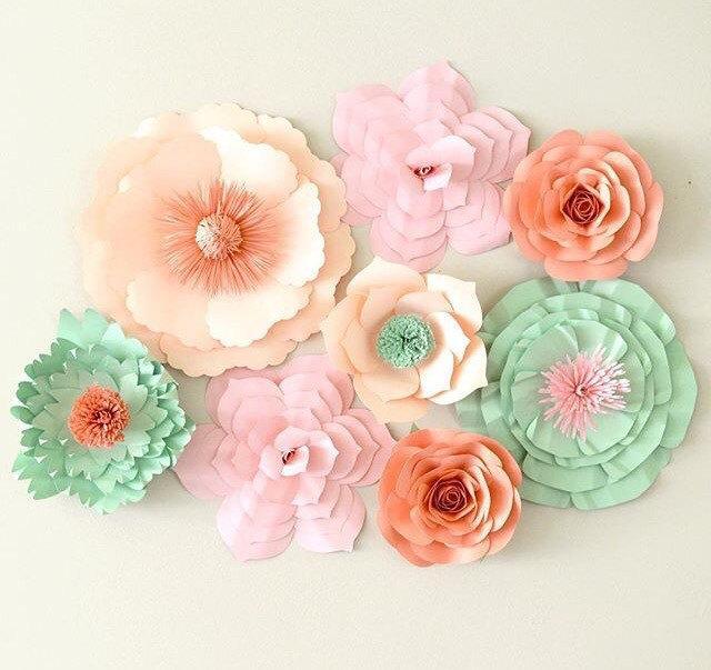 Mariage - Paper Flower Backdrop, Paper Flower Centerpiece, Large Paper Flowers