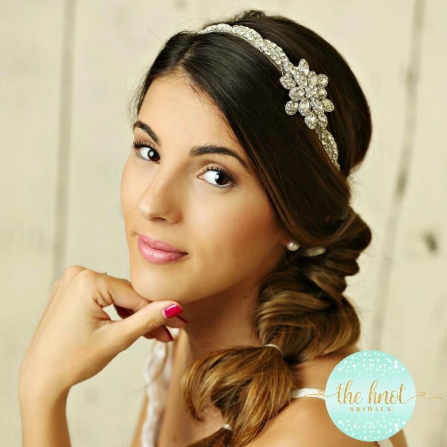 Mariage - Stunning Bridal Headband, Rhinestone Headband, wedding headband, crystal headband, bridal hair accessories, bohemian bridal headband