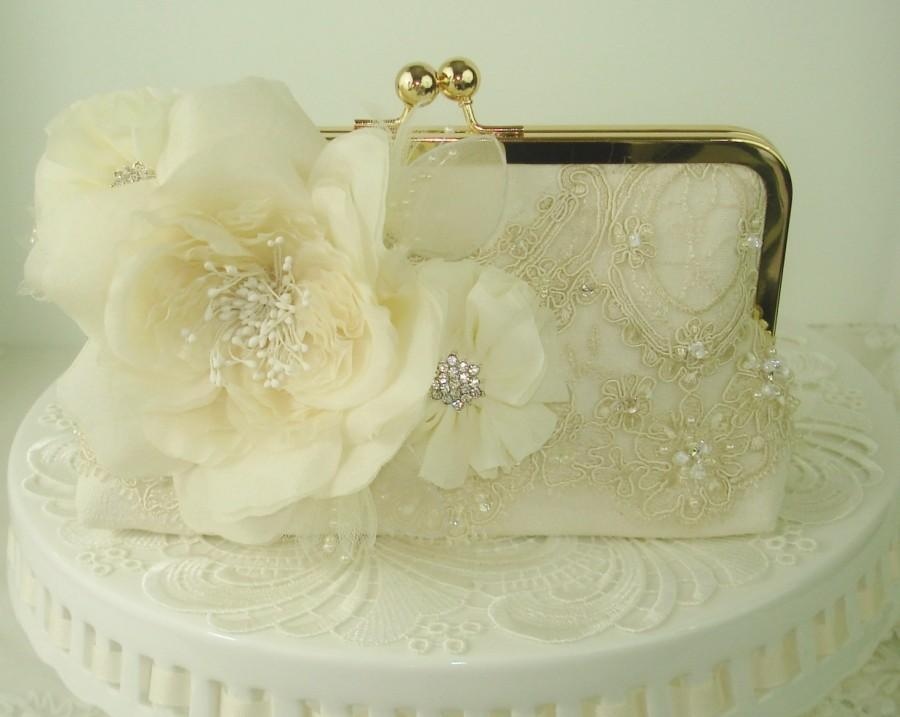 Ivory Bridal Clutch / Vintage Bride / French Country Wedding ...