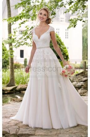 Mariage - Stella York Romantic Cap Sleeve Wedding Dress With Cameo Back Style 6391