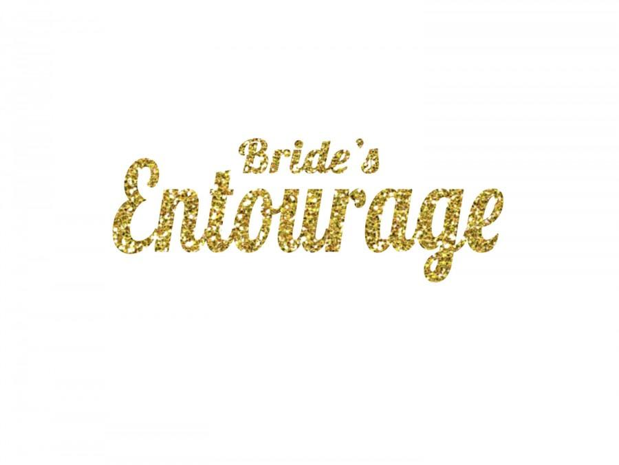 Mariage - DIY Bride's Entourage Iron-On Vinyl Decal - HTV -  Glitter Iron-On - 5 Color Choices -  DIY Bachelorette Party Shirt