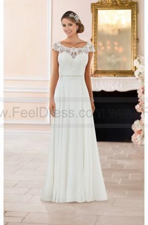 Wedding - Stella York Off The Shoulder Lace Back Wedding Dress Style 6365