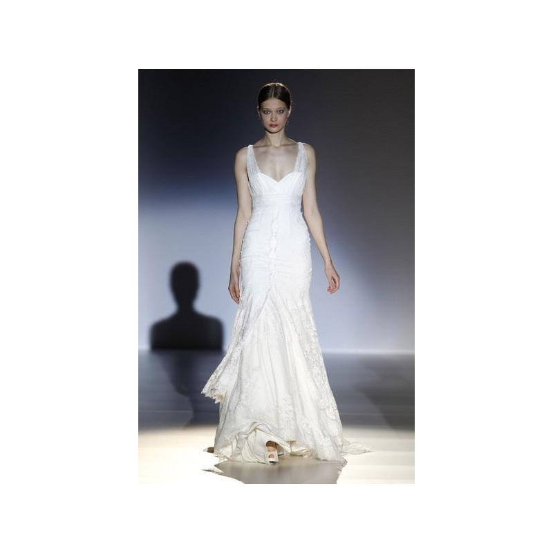 Wedding - Vestido de novia de Franc Sarabia - 2014 Recta Tirantes Vestido - Tienda nupcial con estilo del cordón