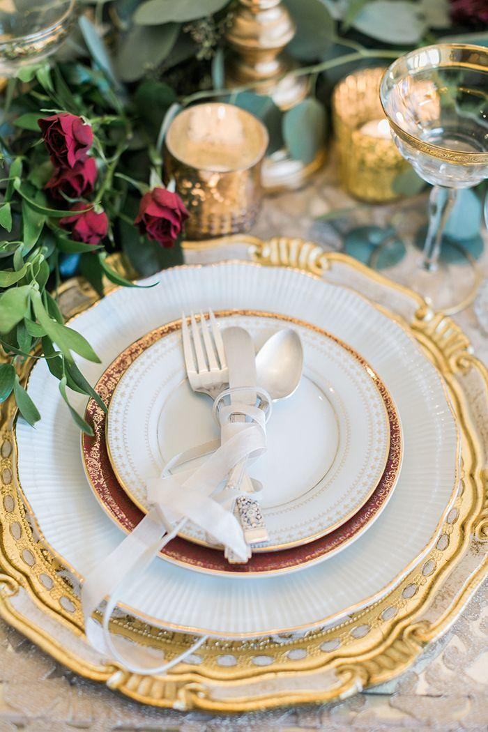 Wedding - Timeless Romance In Greenery And Gold