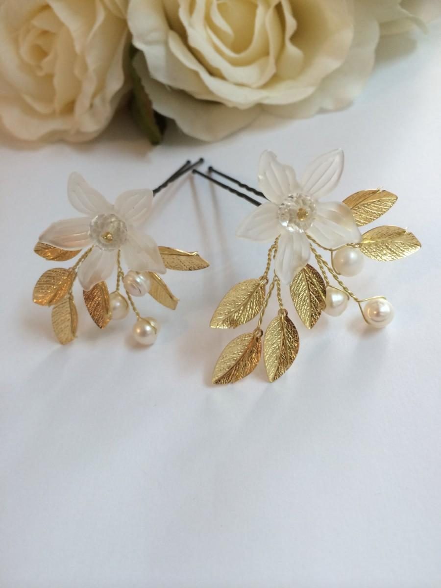 Wedding - Bridal Hair Pins x2, Hair Pins Wedding, Pearl Hair Pins for Bride, Hair Pins for Wedding, Hair Accessories Bridal, Wedding Hair Pins, 2 Pins