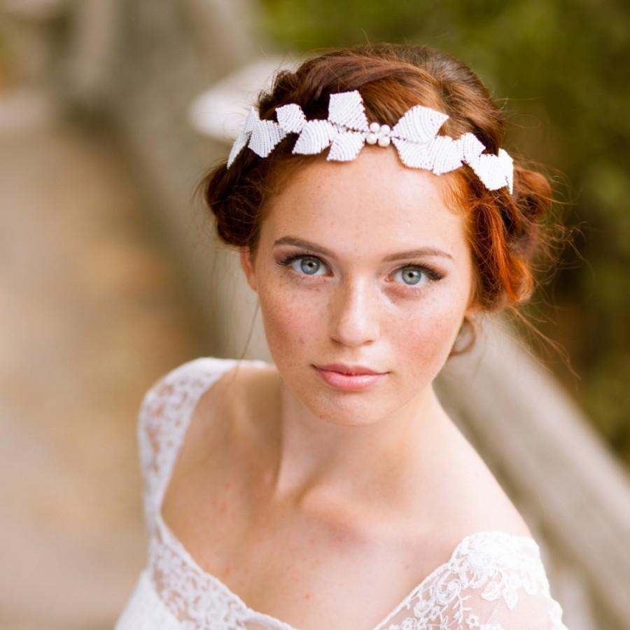 Hochzeit - Leaves bridal vine Wedding hair vine Bridal tiara Wedding crown Leaves bridal headband Leaf bridal wreath Greek wedding crown Bridal halo