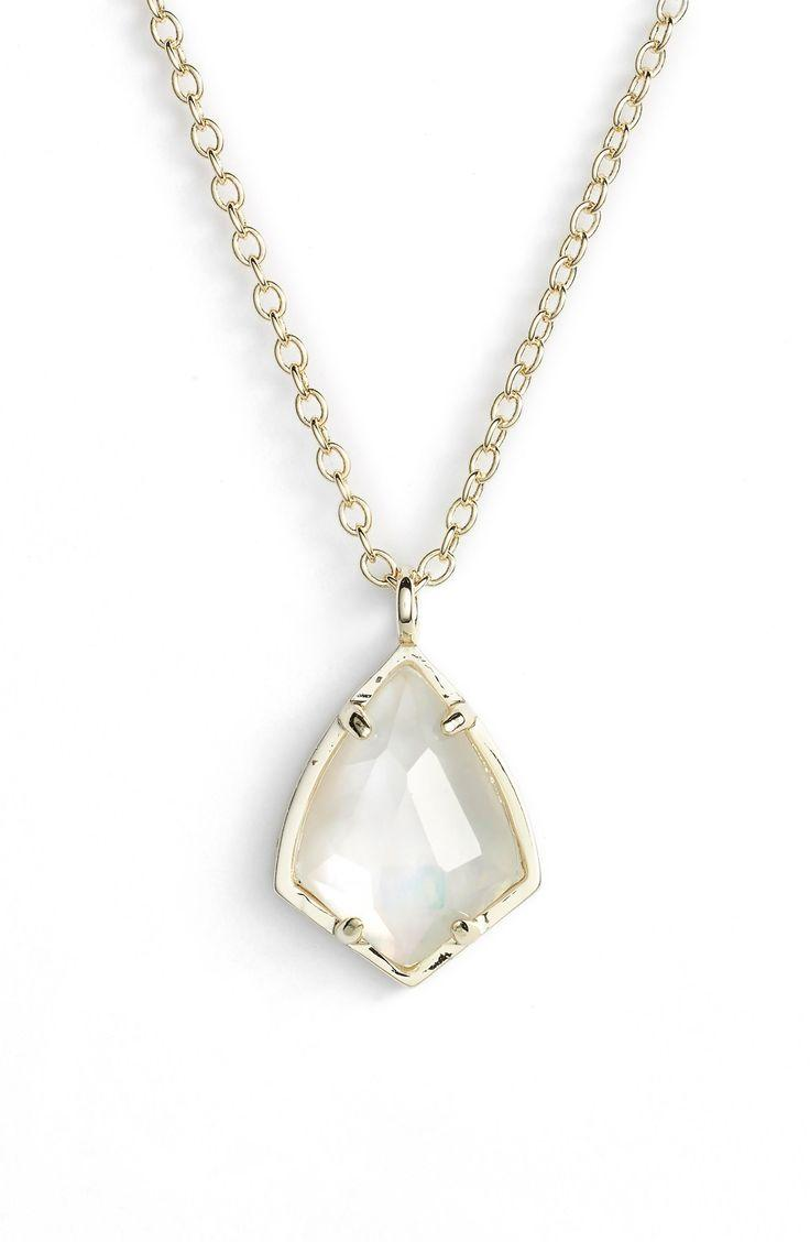 Wedding - 'Cory' Semiprecious Stone Pendant Necklace