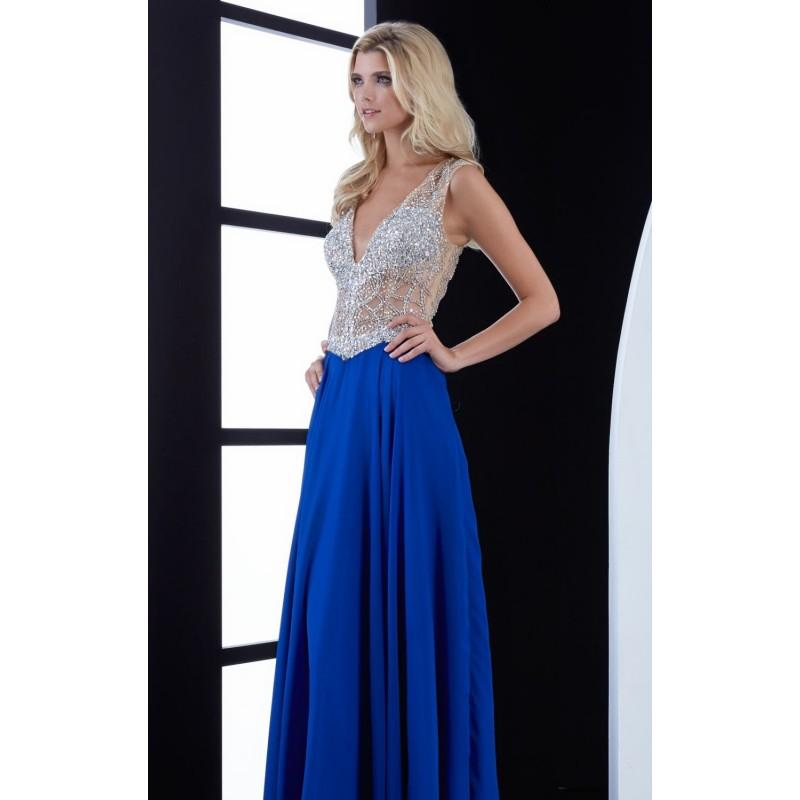 Wedding - Royal Beaded V-Neck Gown by Jasz Couture - Color Your Classy Wardrobe