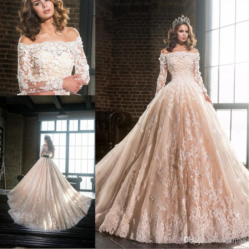 Vestidos De Novia 2017 Gorgeous A Line Wedding Dresses With