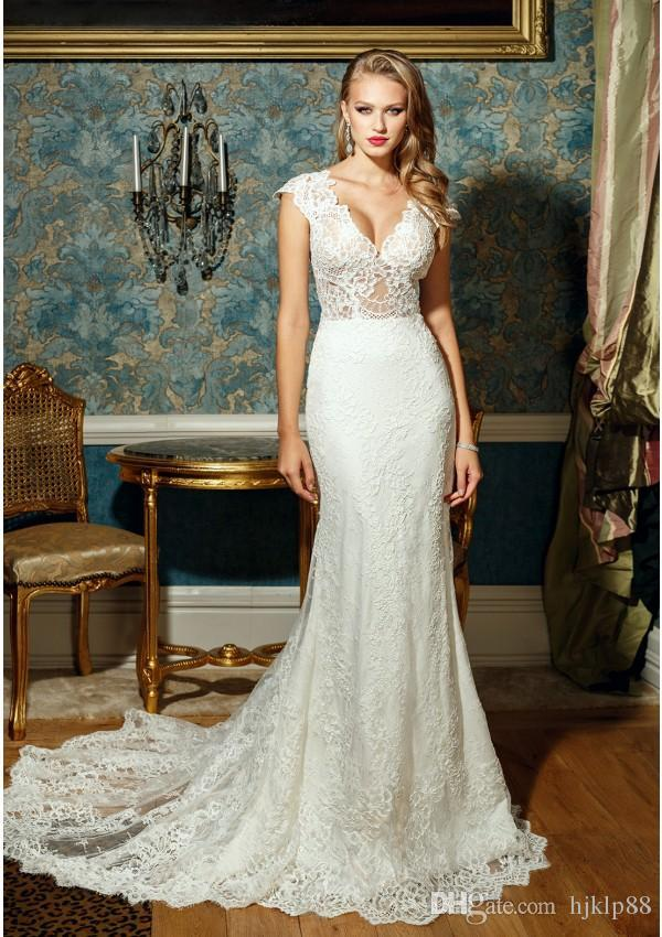 Bien savvy new 2017 sexy deep v neck wedding dresses see through bien savvy new 2017 sexy deep v neck wedding dresses see through lace applique mermaid wedding dress backless bridal gowns sheer illusion lace luxury junglespirit Choice Image