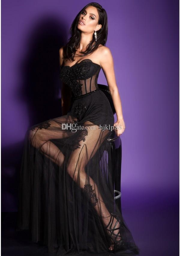 Свадьба - New Arrival 2017 Sexy See through Evening Dresses Sheer Tulle Applique Beading Boned Princess Dress Prom Dress Satin Lining Sexy Two Pieces Online with $137.15/Piece on Hjklp88's Store