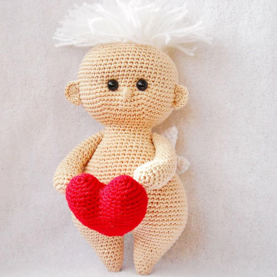Hochzeit - Valentine's Day Gift Gift, angel amigurumi, stuffed crocheted angel, Knitted angel, Soft toy angel, plush angel, crocheted angel doll