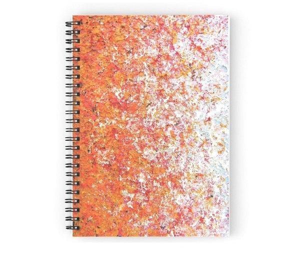 Wedding - Orange Journal, Spiral Notebook, Abstract Orange Notepad, Writing Journal, Colorful Art Journal, School Supplies, Writing Pad, Lined Journal