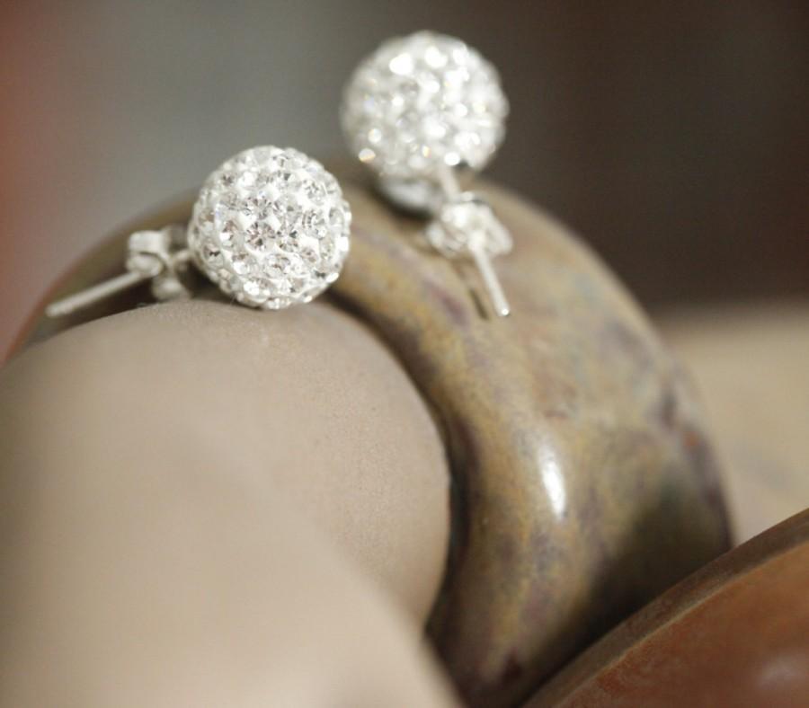 Wedding - Crystal Earrings,Bridesmaid Gift, Bridesmaid set, stud Earrings,Silver set, Jewelry set, Bridesmaid necklace,Crystal set, diamond looked