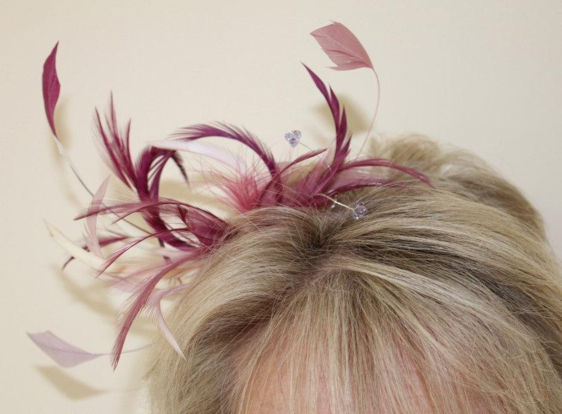 Wedding - Wedding Fascinator, Wedding Headdress, Wedding Headdress, Feather Headdress, Bridal Fascinator