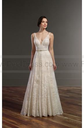 Wedding - Martina Liana Boho Wedding Dress With Plunging Neckline Style 848