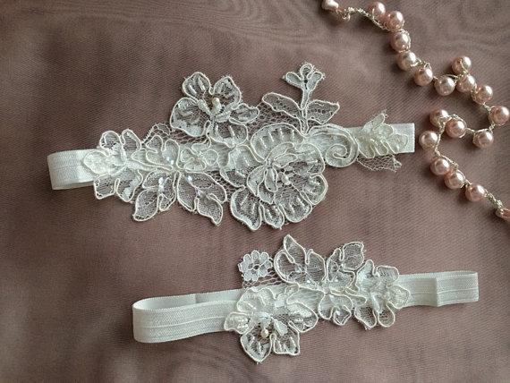 Wedding - Wedding Garter Set- Bridal Garter Set - Keepsake Garter- Toss Garter- Lace Garter- Garter- Wedding Garter- Bridal Garter-
