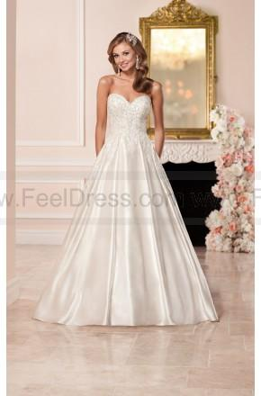 Wedding - Stella York Satin Wedding Dress With Sweetheart Neckline Style 6306