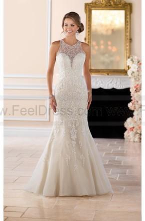 Wedding - Stella York Elegant High Neck Sheath Wedding Dress With Lace Beading Style 6435