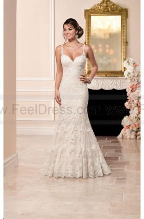 Boda - Stella York Sheath Wedding Dress With Illusion Back Style 6329