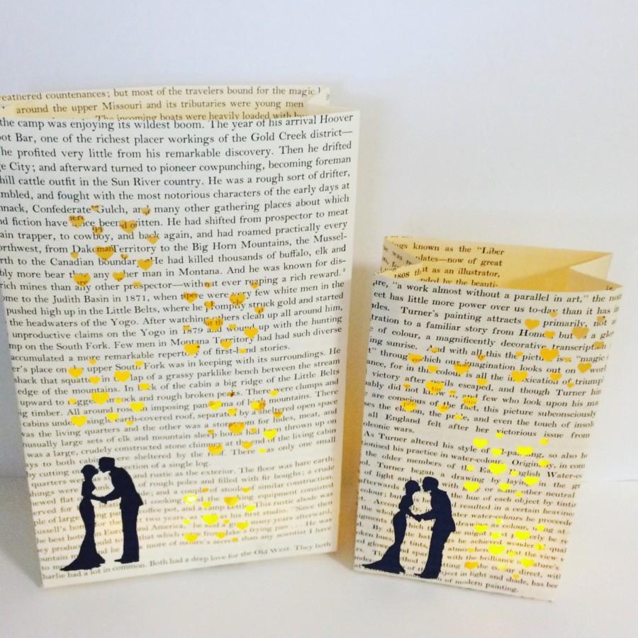 Wedding - Luminary Set, Book Wedding, Bride & Groom, First Anniversary Paper Gifts, Library Wedding, Book Decor, Love, Wedding Lanterns