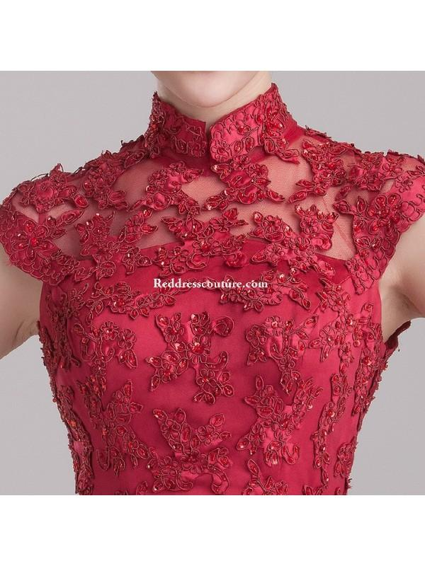 Hochzeit - Chinese Wedding Gown Modified Cheongsam Prom / Homecoming Dress Prom Dresses - Reddresscouture.com